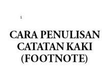 contoh catatan kaki
