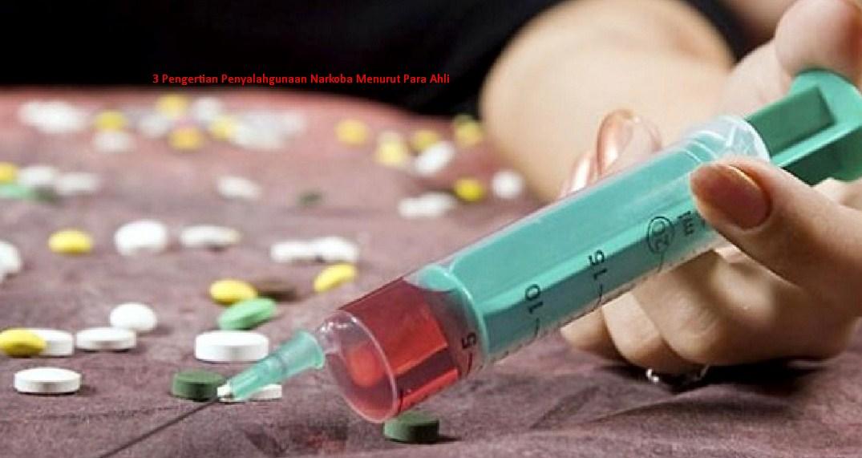 Pengertian Penyalahgunaan Narkoba Menurut Para Ahli