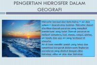 pengertian hidrosfer menurut para ahli