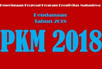 Pengumuman Pembukaan PKM 2017 di Danai 2018