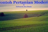 Contoh Pertanian Modern Di Indonesia dan Dunia